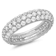 2.5ct Round Cut Eternity Designer Bridal Wedding Anniversary Band 14k White Gold