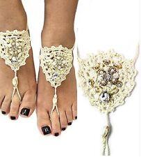 Sandal ( Ivory) Bohemian Crochet Barefoot