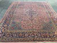 AUTHENTIC ANTIQUE PERSIAN  RUG HAND KNOTTED WOOL 10' X 8'