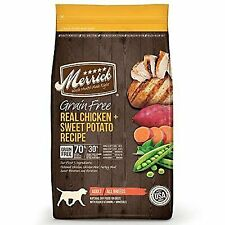 Merrick Grain Free Dry Dog Food  Chicken & Sweet Potato ( 25 lbs )
