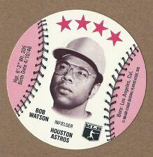 1976 Baseball Round Disc Bob Watson  Astros   MLBPA Logo/Blank Back