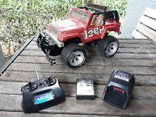 "Nikko Jeep Wrangler 6.0v Red 27mhz Remote Control RC 1/10 Scale? 12""x7"" Complete"