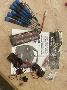 RC Job Lot Acoms Tamiya Hobbycraft Tools And Battery 1/10