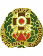 0256 Combat Support Hospital Unit Crest (Save Strengthen Support)