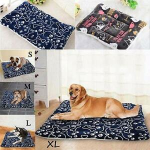 DOG BED Pet Mattress ZIPPED COVER WASHABLE COMFORT CUSHION REMOVABLE indoor out