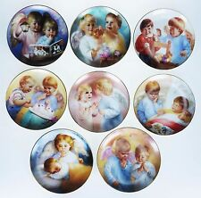 8 Plates Heavenly Angels MaGo Artaffects Danbury Mint Guardian Angel Vtg