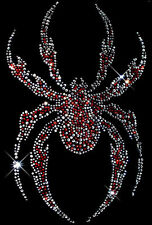 Red Crystal Spider Rhinestud Rhinestone T-Shirt PLUS SIZE -or- SUPERSIZE T246F