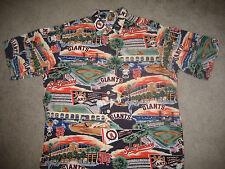 """SAN FRANCISCO GIANTS HAWAIIAN SHIRT """"GIANTS  HISTORY"""" REYN SPOONER SZ: XL"""