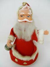 "Vintage 1950's Sankyo Wind-Up Musical Jingle Bells Rotating 9.5"" Santa"