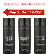 Dark Brown Black Medium Brown Gray 27.5g Toppik Hair Building Fiber Buy 2 Get 1