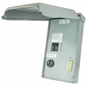 GE RV Panel with 30 Amp RV Receptacle and 20 Amp GFCI Receptacle