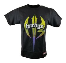 The Hardy Boyz Retro Logo WWE Authentic Kids Boys Black T-shirt