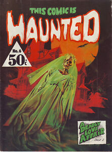 This Comic is Haunted #6 Gredown Publication Australian Ed. Black and White
