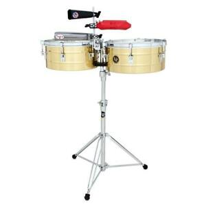 """LP Tito Puente 14"""" And 15"""" Timbales, Brass"""