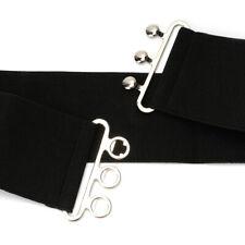 MMG - Fashion Cinch Buckle 2 Inch Wide Stretch Elastic Waist Belt Black AU