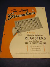 1951 Auer Register Co Air Diffusers Catalog Ac Grilles