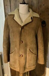 Vintage Mens sheepskin Coat - Genuine NURSEY'S sheepskin Product - Chest Size 40