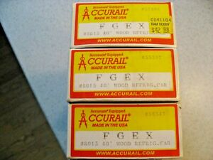 Accurail #8015 Set of 3 - 40' Wood Refrigerator Cars Fruit Growers Express FGEX