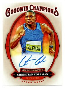 2020 Goodwin Champions Autograph Christian Coleman USA Olympic Track Team