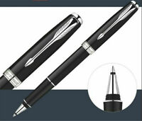 Perfect Parker Sonnet Series Bright Black Silver Clip 0.5mm F Nib Rollerball Pen