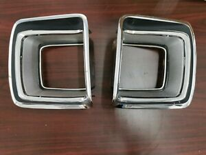 1969 Plymouth GTX Tail Light Bezels (USED)