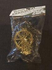 NIP Vintage Laser Cut Brass Ferris Wheel Christmas Tree Ornament Roman, Inc