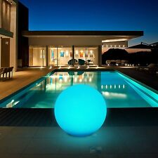 Round Solar LED Outdoor Multicolor Swimming Pool Garden Patio Back Yard Light