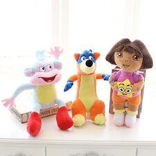 3PCS Dora The Explorer Swiper Fox Boots The Monkey Plush Toy Soft Doll 20cm
