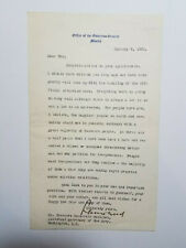Leonard Wood - typed letter signed by the Governor-General of the Philippines