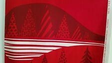 Marimekko Fabric TULTAKER 1  yd  x 56 RED Cotton Christmas Spruce Trees No Green