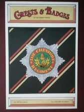 POSTCARD BADGE FOR CHESHIRE REGIMENT