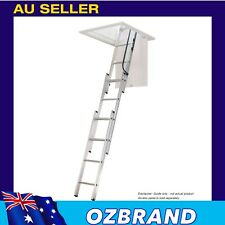 Sliding Attic Ladder for up to 2.6m Ceiling Height with Snap Lock Access Panel