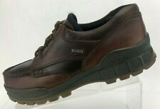 Ecco Track II Low Hiking Boots TPU Brown Leather GoreTex Casual Mens 42 US 8/8.5