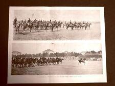 Manovre di cavalleria in Piemonte nel 1899 Rivista in Piazza d'Armi