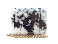 Jimmy Choo 'Candy' Black & White Palm Print Acrylic Clutch Bag [ 29% OFF RRP ]