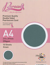 Green - Payper Box Bersan Pearlescent 10 * A4 double sided pearl card