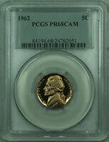 1962 Jefferson Nickel 5c Coin PCGS PR-68 CAM Proof Cameo
