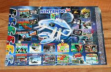 N64 Nintendo 64 Ad Flyer Mini Poster Bomberman Hero Super Mario Killer Instinct