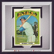1972 Topps BOBBY WINE #657 EXMT+ *awesome baseball card for set* M90C