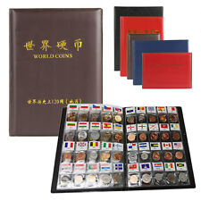 5x Album Book Collection Storage Penny Pocket Money Flag Collecting Coin Holders