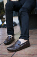 Men Slip On Loafers Casual Leather Shoes Soft Comf Driving Moccasin-gommino Shoe