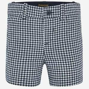 Mayoral Baby / Toddler Boys Navy Check Shorts With Adjustable Shorts (1282)