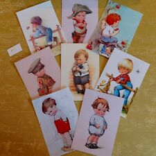 Craft clearout mix, card toppers / paper die cuts, bundle vintage postcard #5