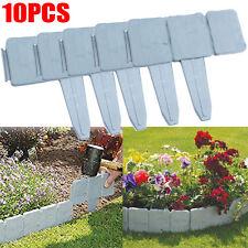 10PCS DIY Garden Landscape Flowerbed Fence Plastic Stone Edging Lawn Border AU