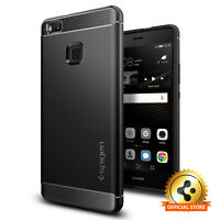 Spigen® Huawei P9 Lite Case [Rugged Armor] Shockproof Ultra Slim Black TPU Cover