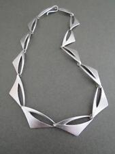Vintage Danish Silver Necklace Mid Century Choker Poul Warmind
