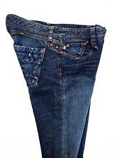 Oligo Tissew Womens Blue Jeans Flare Low Dark Slub Star USA Made 08A Size 26 (2)