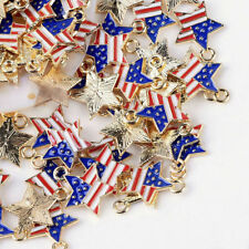 10PCS Alloy Enamel Pendants Charms DIY Craft Jewelry Necklace Bracelet Making