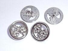 6 Stück Metallknöpfe Knopf Wappenknöpfe Ösenknöpfe  20 mm silber braun NEU 0356