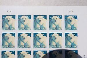 US Postage stamps sheet of Polar Bear stamps20 28 cent stamps MNH OG